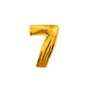 Ballon chiffre 7 - Or