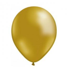 50 Ballons Métalliques - Doré