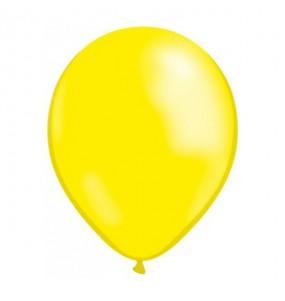 50 Ballons Métalliques - Jaune