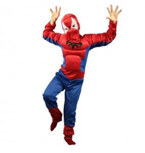 Déguisement Spiderman avec muscles garçon