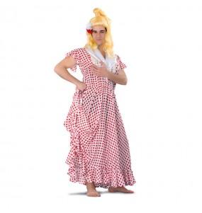 Déguisement Flamenco Blanc à pois Rouge pour homme
