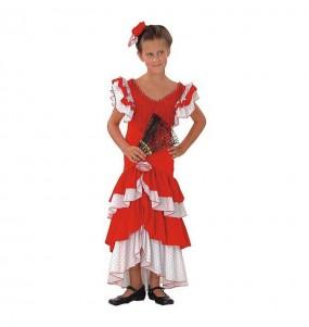 Déguisement Flamenco (Sévillane) Rouge
