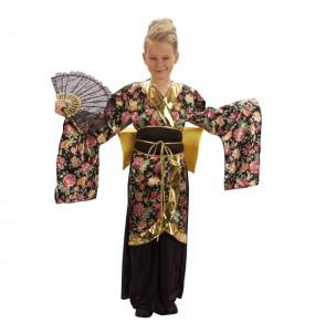 Déguisement Geisha à fleurs pour fille