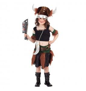 Déguisement Viking Barbare pour fille