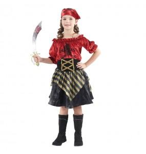 Déguisement Pirate rouge pour fille