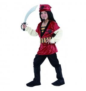 Déguisement Pirate rouge garçon