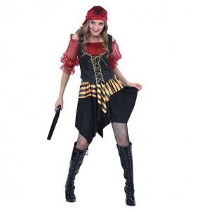 Déguisement Pirate Rouge femme