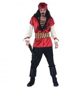 Déguisement Pirate rouge pour homme