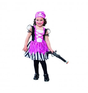 Déguisement Pirate Rose petite fille