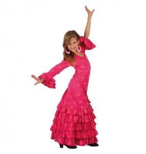 Déguisement Flamenco (Sévillane) Fuchsia fille