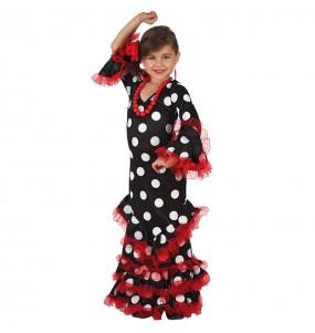 Déguisement Flamenco (Sévillane) Noir fille