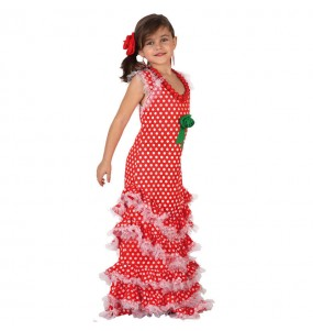 Déguisement Flamenco (Sévillane) Rouge fille
