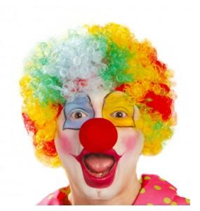 Perruque Bouclée Clown Multicolore