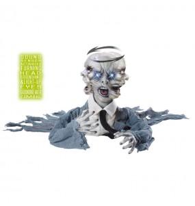 Décoration Tête de Zombie tournante