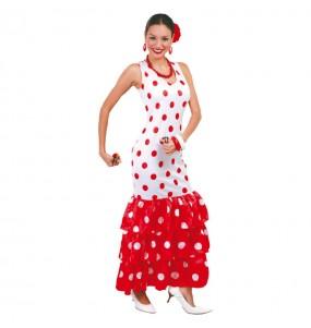 Déguisement Flamenco Blanche et Rouge