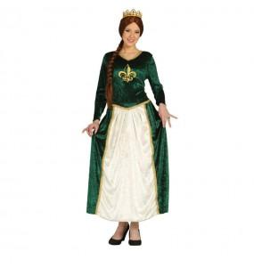 Déguisement Dame Médiévale Verte