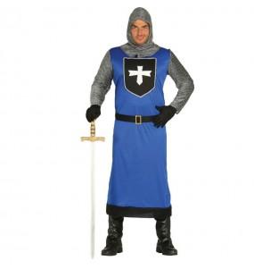 Déguisement Chevalier Médiéval Bleu