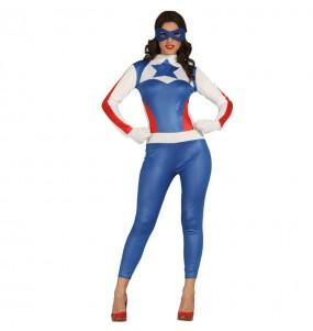 Déguisement Captain America Femme
