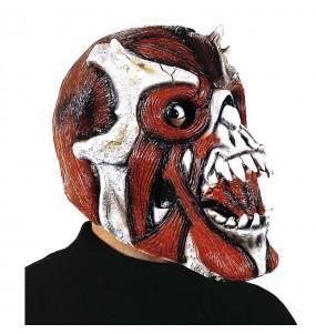 Masque de Squelette rouge