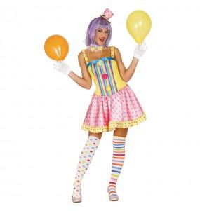 Déguisement Clown Femme Couleurs Adulte