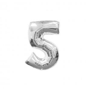 Ballon chiffre 5 – Argent