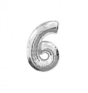 Ballon chiffre 6 – Argent