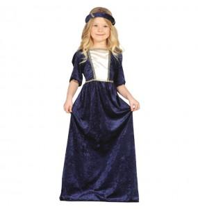 Déguisement Dame Médiévale Bleue fille