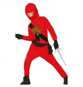 Déguisement Ninja Rouge pour garçon