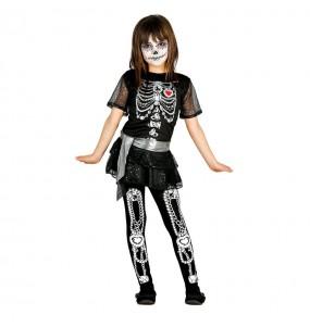 Déguisement Squelette Fille Luxe