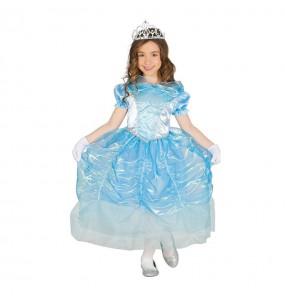 Déguisement Princesse Bleue Cendrillon Enfant