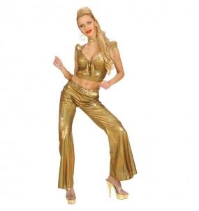 Déguisement Pantalon Holographique doré