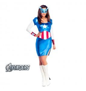 Déguisement Captain America femme - Marvel™
