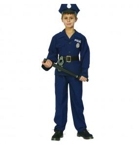 Déguisement Policier bleu pour garçon