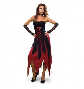 Déguisement Vampiresse Gothique Sanglante