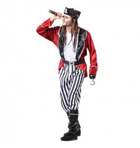 Déguisement Pirate barbe Noire pour homme