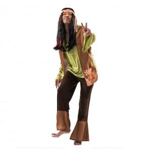 Déguisement Hippie Marron Homme