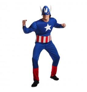 Déguisement Captain America Musclé