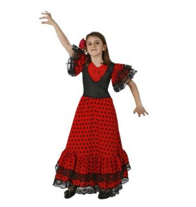 Déguisement Flamenco (Sévillane) Rouge pas cher fille