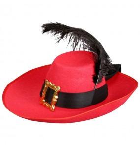 Chapeau Mousquetaire Rouge adulte