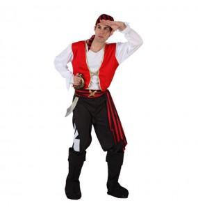 Déguisement Pirate Boucanier rouge