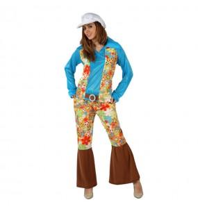 Déguisement Hippie Bleu femme