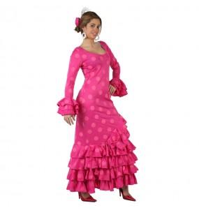 Déguisement Flamenco (Sévillane) Rose à pois pour femme