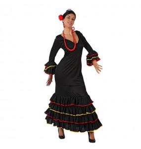 Déguisement Flamenco (Sévillane) Noir adulte