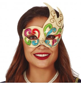 Masque loup Vénitien Multicolore