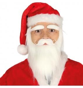 Barbe, moustache et sourcils Père Noël