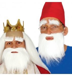 Barbe et moustache blanche pas cher