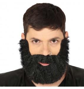 Barbe touffue noire