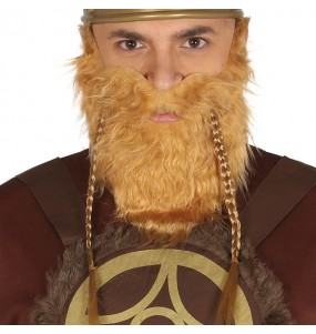 Barbe Viking avec moustache