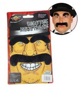 Moustache et sourcils noirs