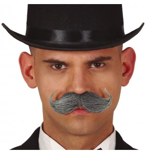 Moustache Anglais Gris